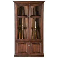 Savannah 15-Gun Cabinet - Handgun Pegs, Glass, Raised Panels