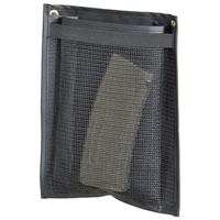 Gun Safe Rack Tall Pouch - Nylon Mesh, Black