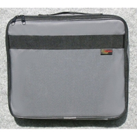 Large Document / Laptop Canvas Case - Velcro, Double Zipper