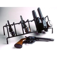 6-Gun Pistol Rack - Coated Wire