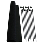 Rifle Rod Starter Pack - Velcro Hook, Loop Fabric (Set of 10)