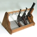 8-Gun Oak Wood Pistol Rack - Velour Fabric - LIB-8GUN-PR