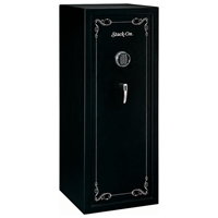 Security Safe w/ Electronic Lock in Black - 16 Gun Capacity