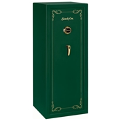 Security Safe w/ Combination Lock in Green - 16 Gun Capacity