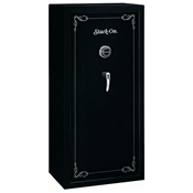 Security Safe w/ Combination Lock in Black - 22 Gun Capacity